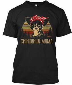 Chihuahua Mama Vintage Shirts Funny Chi-Dog Mom Gifts Womens T-Shirt