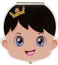 Scatola cofanetto porta dentini denti latte in legno box decorato bambino bimbo