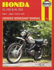 Haynes Manual 0209 - Honda XL250 & XL350 Trail Bikes (72 - 76) LIMITED EDITION