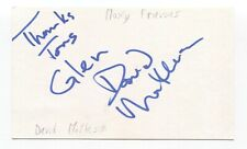 Moxy Fruvous - Dave Matheson Signed 3x5 Index Card Autographed Signature