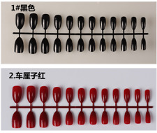 Color Pointed Stiletto False Nails Nail Artificial Tips Full Cover Fake Nails