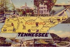 GREETINGS FROM TENNESSEE key to eight Points of Interest on back