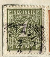 NETHERLAND INDIES;  1883 early numeral issue fine used 1c. value