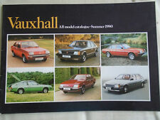 Vauxhall range brochure Summer 1980 Chevette, Astra, Carlton, Cavalier, Royale