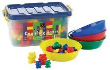 Counting Bears - Sorting Bears - Classroom Kit 96 Bears - 4 sorting Bowls