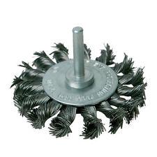 75mm ruota Twist-Knot - 6mm gambo-per trapano Power-Rimozione di ruggine, deburring