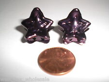 Mini STAR Top Metallic Purple Cute Plastic Hair Snap Styling Lot of 48 New Clips