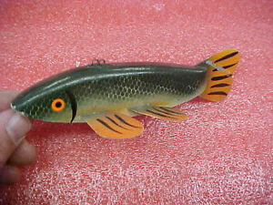 BS1 LORI DRETSCH ICE fishing SPEARING DECOY WOOD LURE SIGNED 2006