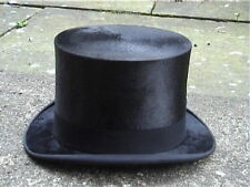 Very Large Continental Black Silk Top Hat Sz 7 3/8..