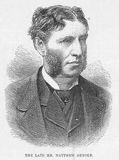 Matthew Arnold poeta y crítico-Antiguo impresión 1888