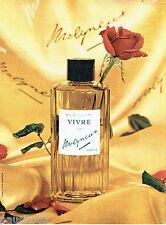 PUBLICITE ADVERTISING 086  1960  Eau de toilette Vivre de Molyneux