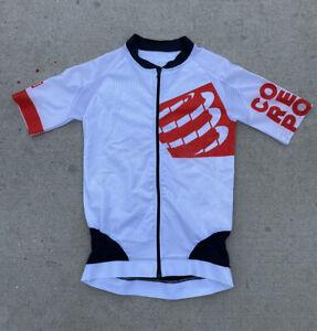Compressport Cycling Jersey Sport Cut Full Zip Raglan Men's Size Small