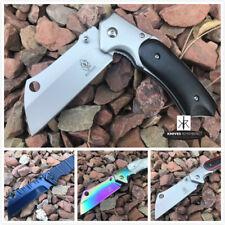 Buckshot Outdoor Survival Assisted Open Pocket Folding Knife Cleaver Razor Blade
