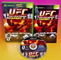 UFC: Tapout 2 - Microsoft Xbox- OG Rare Game Complete 1-2 players Fighting