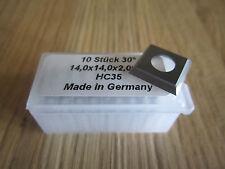 HW HM Vorschneider Wendeplatten Wendemesser 14 x 14 x 2,0 mm Z. 4 Neu 10 Stück