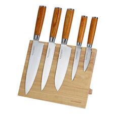 Echtwerk Damastmesser Set 5TLG Inkl. Magnet-Messerblock Küchenmesser-Set Messer