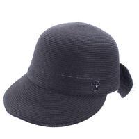 Womens Back Bow and Netting Straw Baseball Hat Golf Sports Sun Summer Cap T368