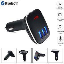 Bluetooth Car FM Transmitter Wireless MP3 Radio Adapter Triple USB ports charger