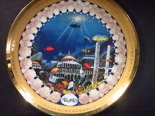 1982 Lands of Fable  F. F. Long ATLANTIS  Ltd Ed Plate