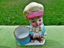 figurine ancienne porcelaine Garcon et les chiots Allemagne