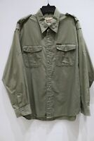 Woolrich men's dill long sleeve button up shirt Military style cotton XL cargo