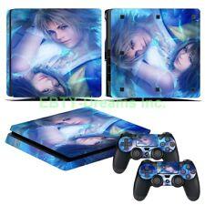 Final Fantasy X FF10 FFX Yuna Tidus Vinyl Skin Sticker Decal Protector PS4 Slim