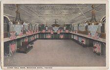 Illinois Il Postcard c1910 CHICAGO Morrison Hotel Interior Flags CAMEO BALL ROOM
