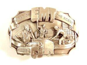 1986 EMT - First on the Scene commemorative belt buckle: No. 758 of 5000