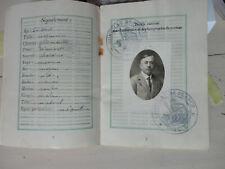 1930 PASSEPORT Consulat général de France à veracruz mexique tampico