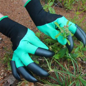 Garden Gloves With Fingertips Claws For  Gardening Dig Planting Pruning  Mittens