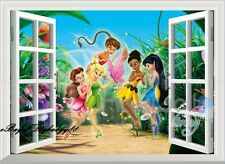 TinkerBell & Fairy 3D Window Wall Decals Removable Kids Decor Nursery Sticker