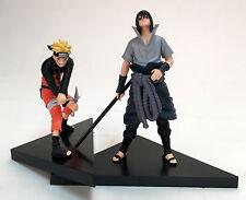 Naruto Uchiha Sasuke & Uzumaki Naruto PVC Action Figures Toys 2Pcs Set New