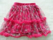 Girls size 5T Pink Hello Kitty Logo Net Skirt over Pink Shorts