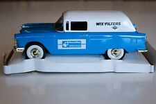 NIB 1955 CHEVY SEDAN DELIVERY COIN BANK 1/25 SCALE DIE CAST METAL