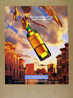 1996 Glenlivet Single Malt Scotch falcon talon holding bottle photo print Ad