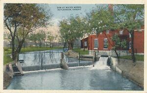 HUTCHINSON KS – Dam at Water Works - 1916