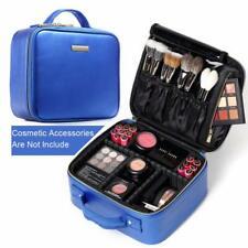 ROWNYEON Travel Makeup Train Case Makeup Bag Organizer Portable Blue - Small