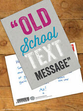 Brainbox Candy 'Old School Text' Postcard Funny Comedy Humour Novelty Joke