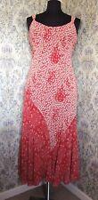 Party dress by PER UNA Size 12r Orange/red & deep cream floral