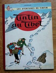 TINTIN AU TIBET EO BD belge 1960 B29 Hergé