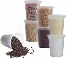 12 Pack 32 Oz Plastic Deli Food Storage Soup Containers Withairtight Lids