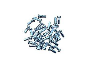PILLAR 12mm, 14mm, 36pcs Aluminium, Silver, Bicycle Spoke Nipples, Bike Nipple