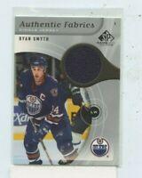 RYAN SMYTH 2005-06 UD SP GAME USED AUTHENTIC FABRICS JERSEY AFMS EDMONTON OILERS