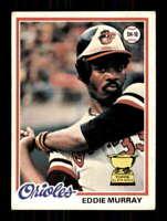1978 Topps #36 Eddie Murray EX/EX+ RC Rookie Orioles 514358