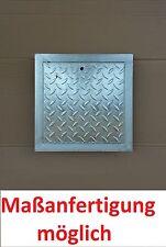 Stahl Schachtabdeckung verzinkt begehbar 700 x 700 mm Tränenblech Neu 70x70 cm