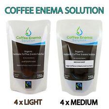 ORGANIC FAIRTRADE COFFEE ENEMA SOLUTION LIGHT GOLDEN & MEDIUM AIR ROAST -GERSON