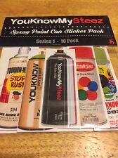 YKMS Spray Paint Sticker Pack Series 1 Ironlak Krylon Rustoleum Montana Devil 94
