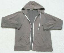 Ubranded Gray Hooded Sweatshirt Long Sleeve Cotton Poly Size Large Open Front