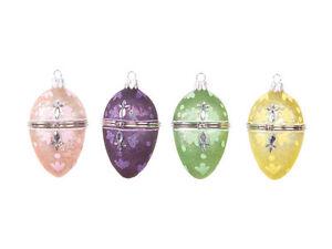 42080 Melrose  Egg Trinket Jewel Box Christmas Easter Spring Glass Ornament