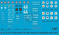 Peddinghaus 1/87 (HO) Char B1 bis French Heavy Tank Markings WWII (4 tanks) 1210